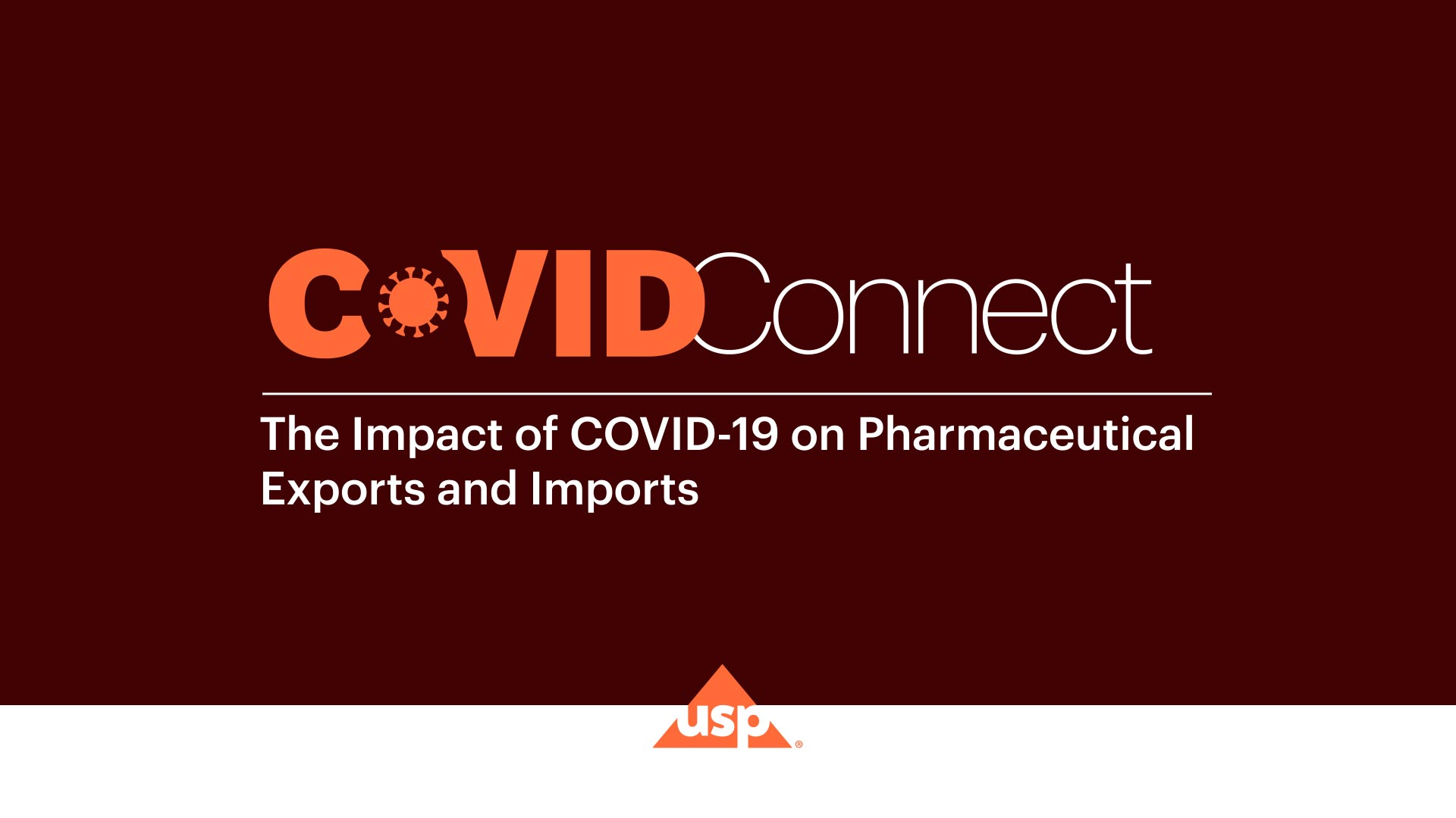 USP COVID CONNECT with Mr. Uday Bhaskar, DG- Pharmexcil | Impact of COVID-19 on Pharmaceutical Exports and Imports
