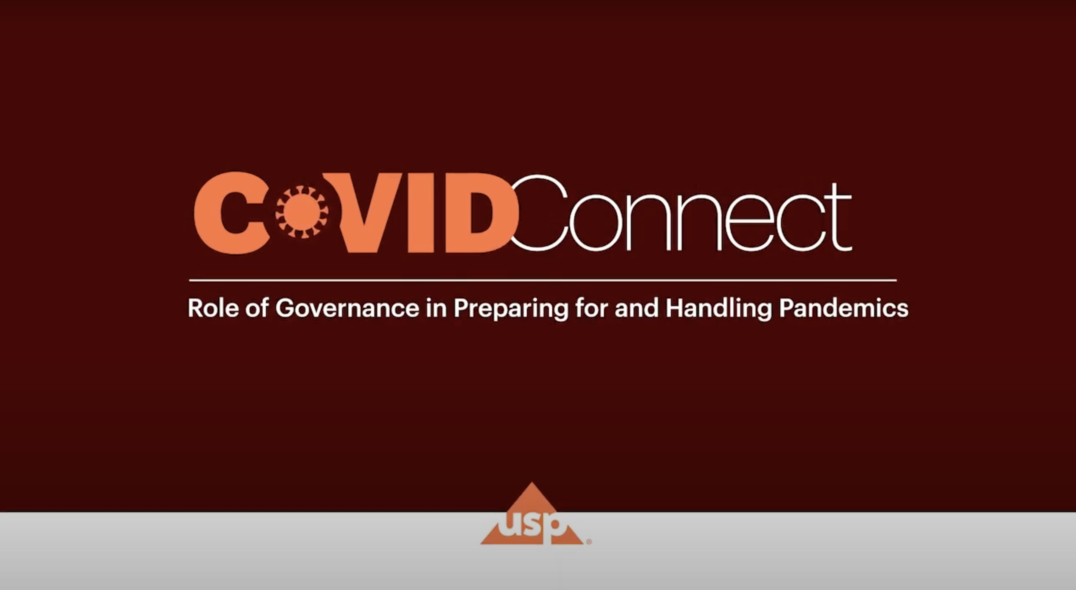USP COVID-Connect | Role of Governance in Preparing for and Handling Pandemics
