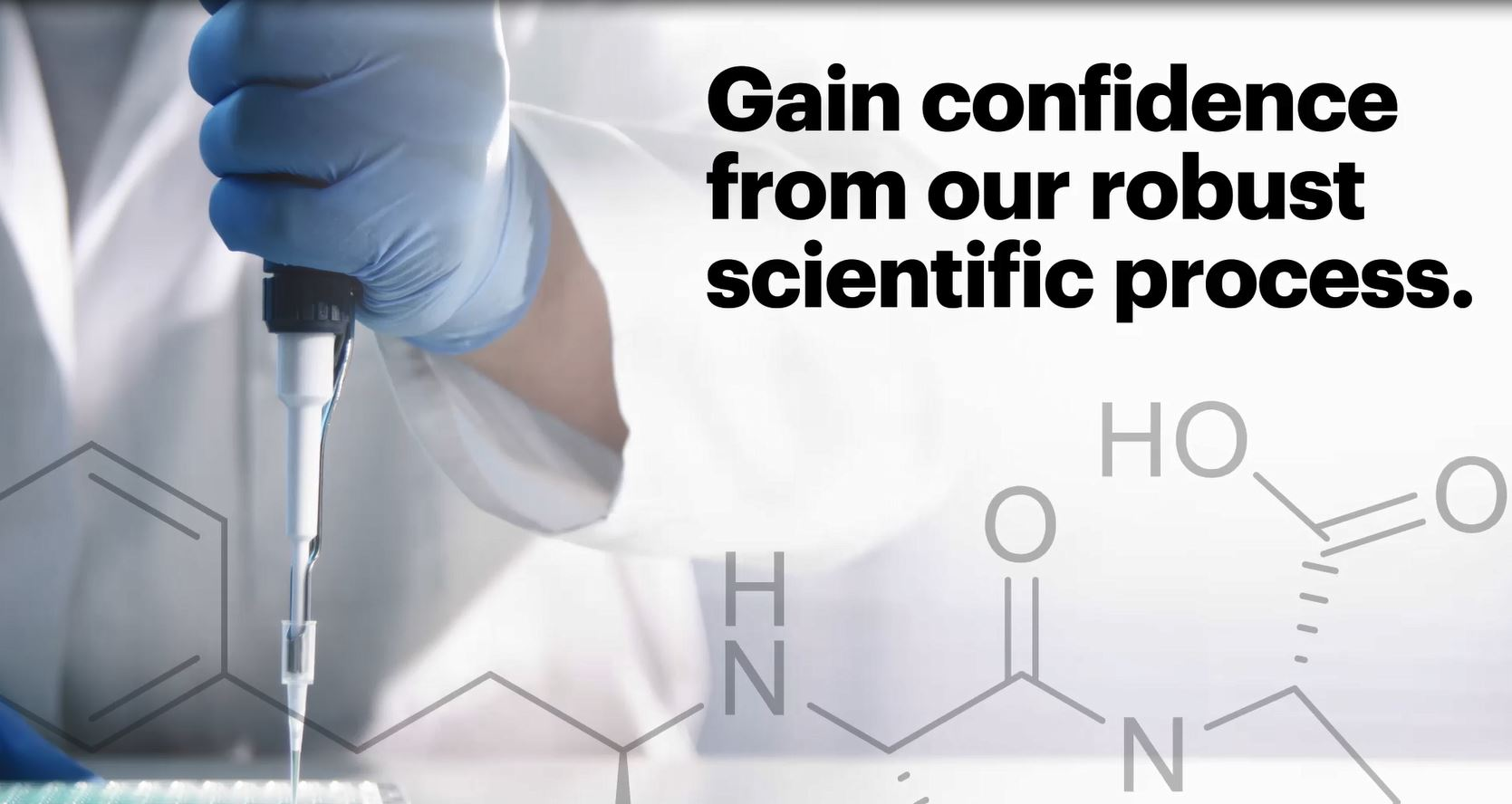 gain confidence from our robust scientific process