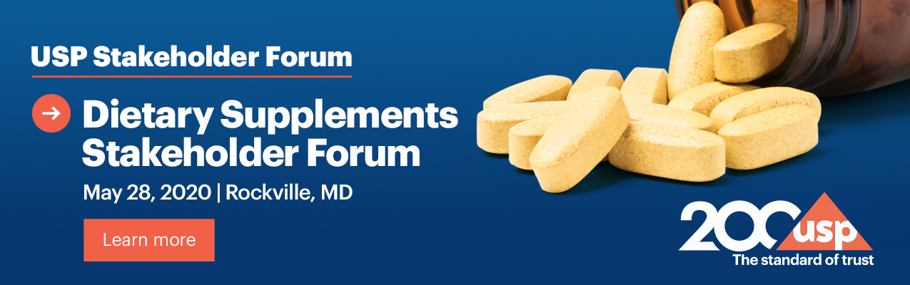 Dietary Supplements Stakeholder Forum - May 28, 2020