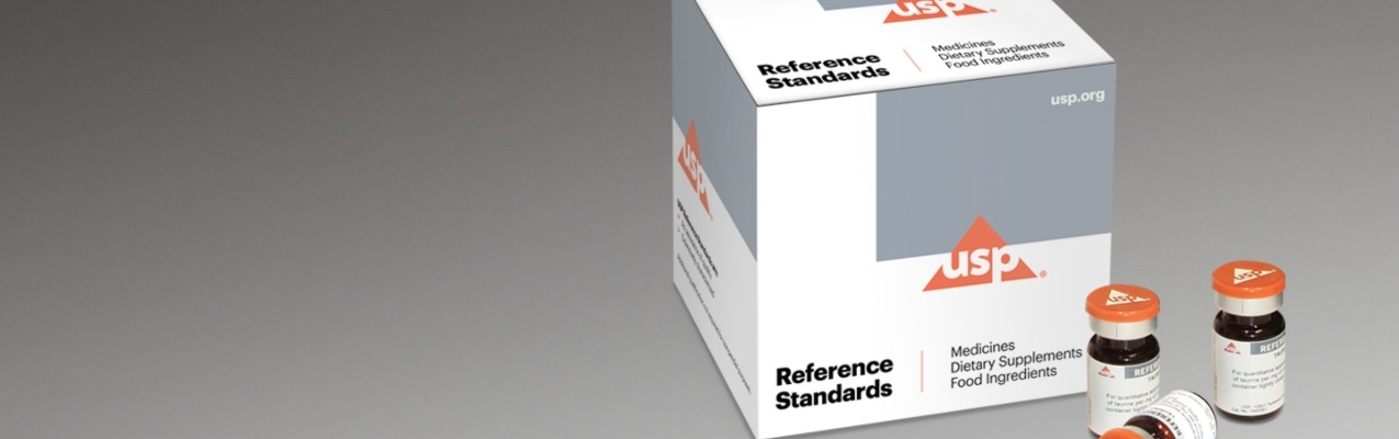 USP Reference Standards box and sample USP bottles