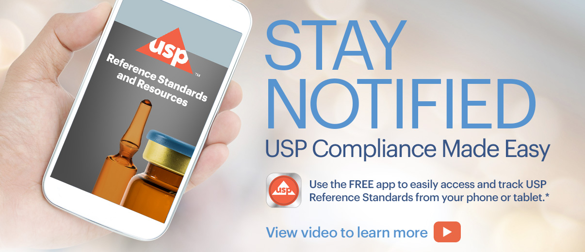 download the USP reference standards app
