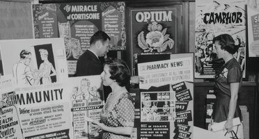 historical photo of medication posters