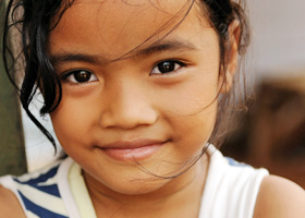 young Asian girl smiling