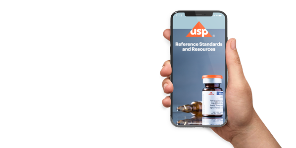 USP Reference Standards App on phone