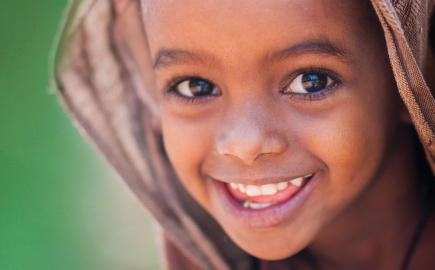 young African child smiling