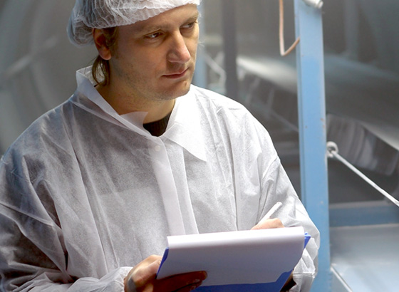 scientist with tablet